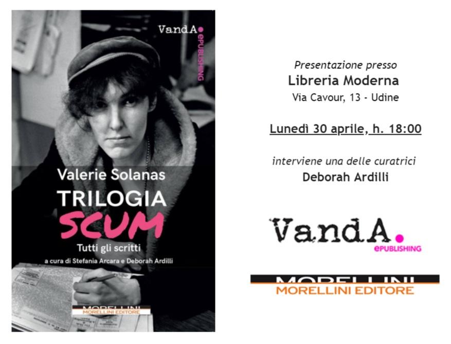 """Evento – """"Trilogia SCUM"""" @ Libreria Moderna, Udine"""