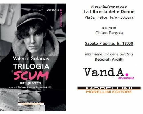 """Evento – """"Trilogia SCUM"""" @ La libreria delle donne, Bologna"""