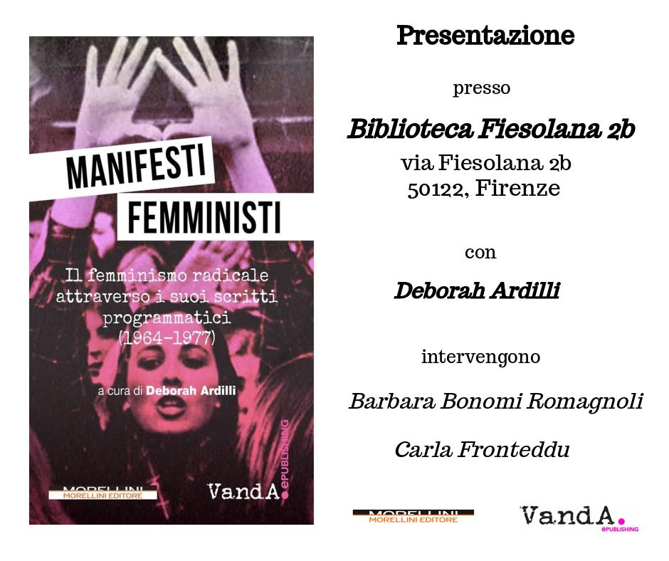 """""""Manifesti femministi"""" @ Firenze"""