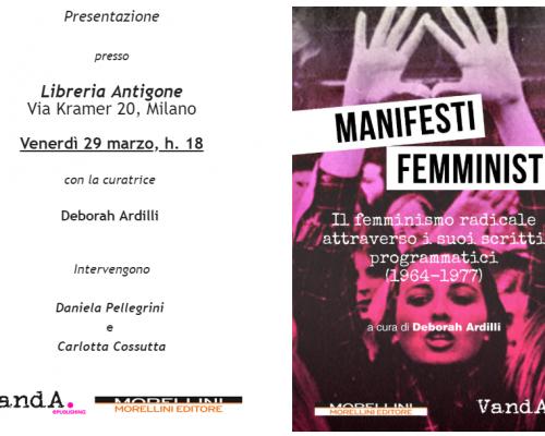 """Manifesti femministi"" a Milano"