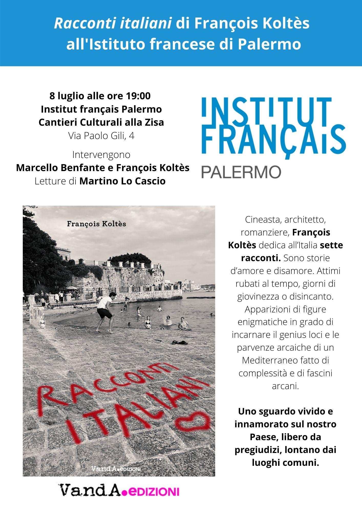 """Presentazione di """"Racconti italiani"""" all'Istituto francese di Palermo"""