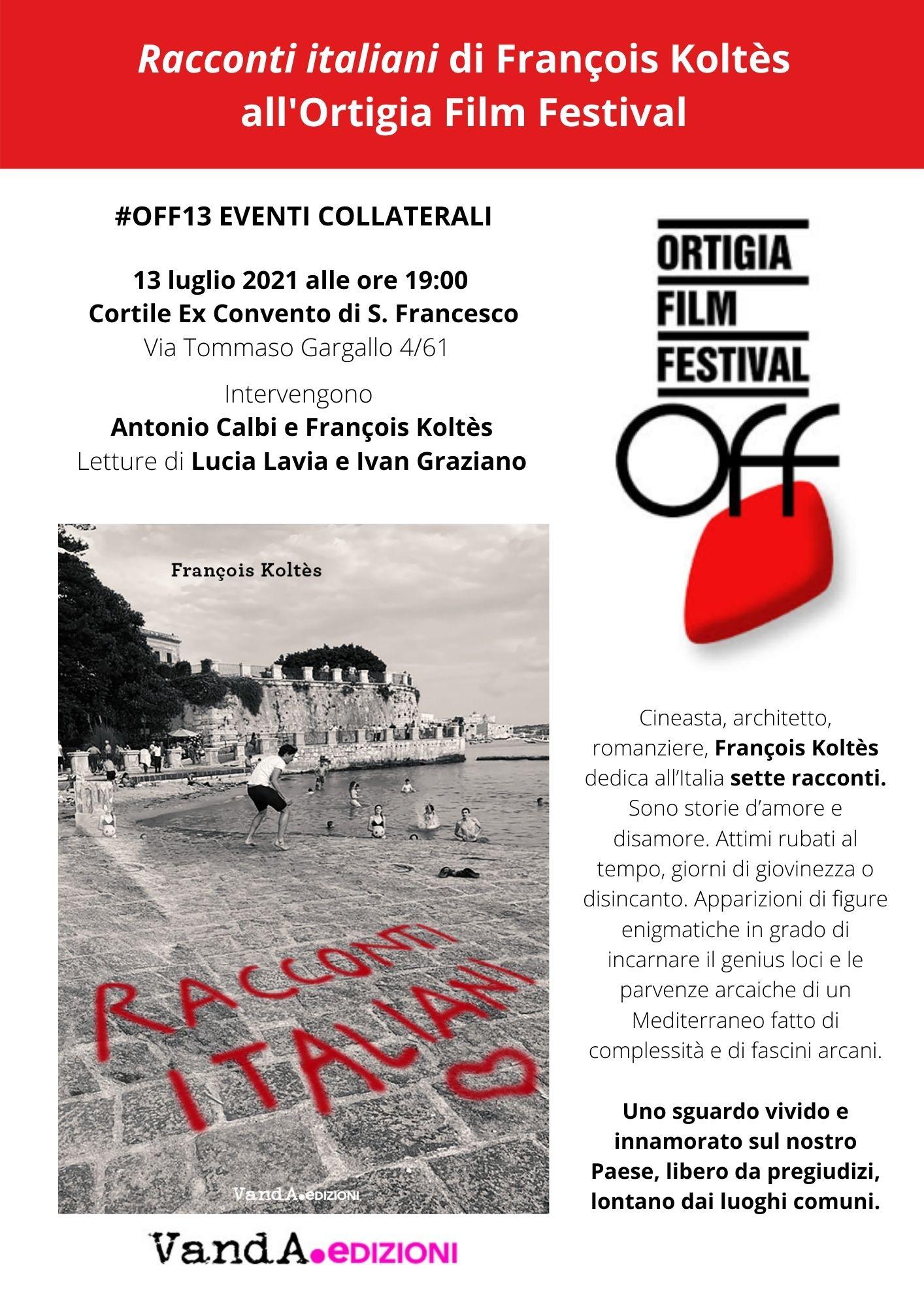 """Presentazione di """"Racconti italiani"""" all'Ortigia Film Festival"""